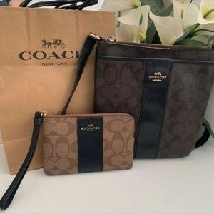Coach Crossbody / Wristlet bundle ($250)
